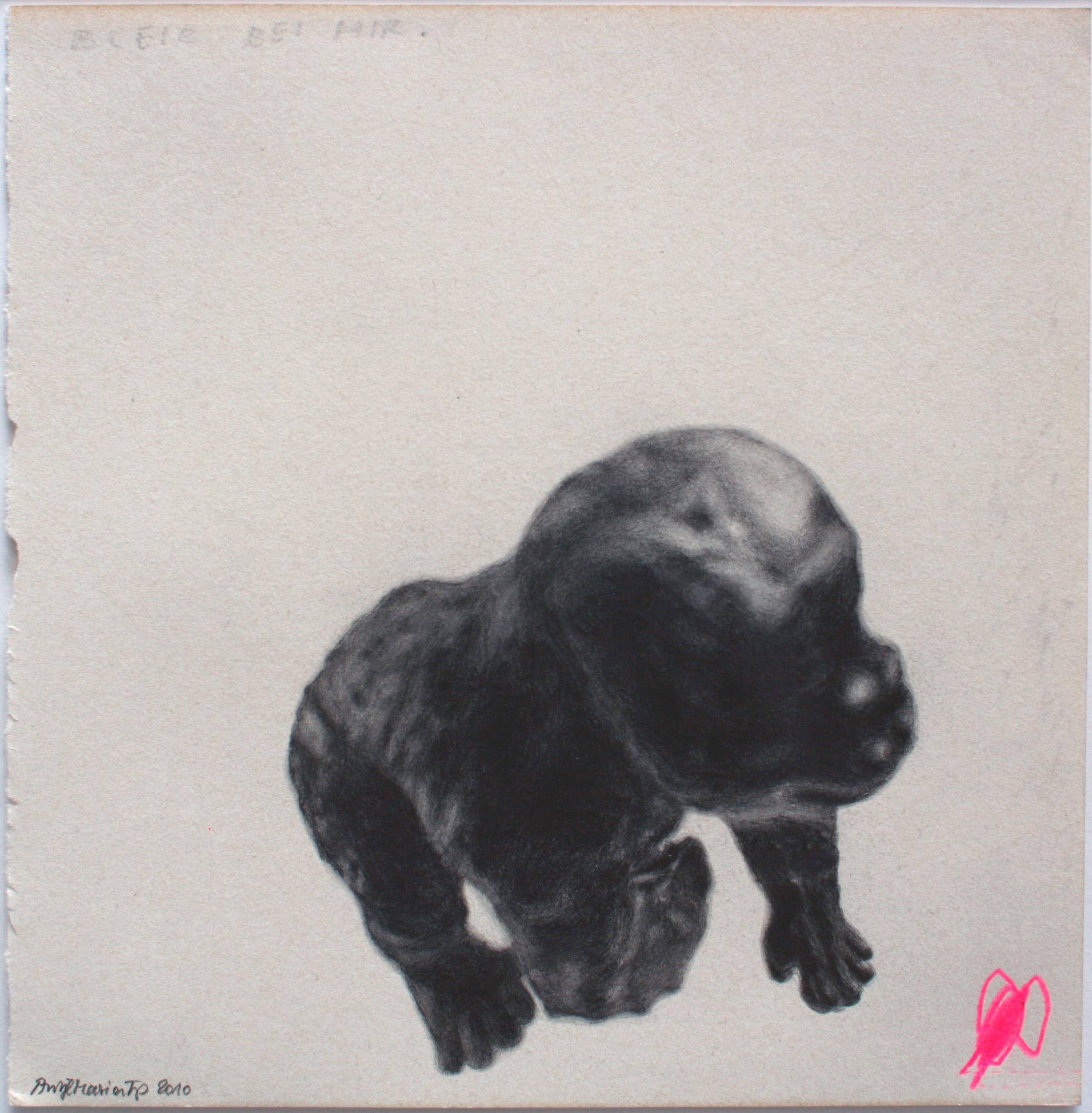 """""""Bleib bei mir, jetzt"""", 2010, Zeichnung auf Papier 24 x 24 cm"""