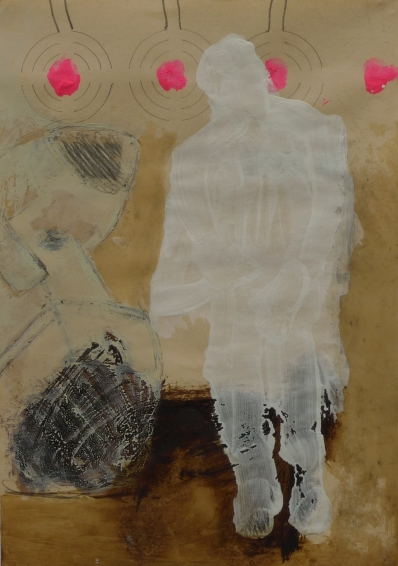 o.T., 2011, Mischtechnik auf Papier, 15 x 21 cm