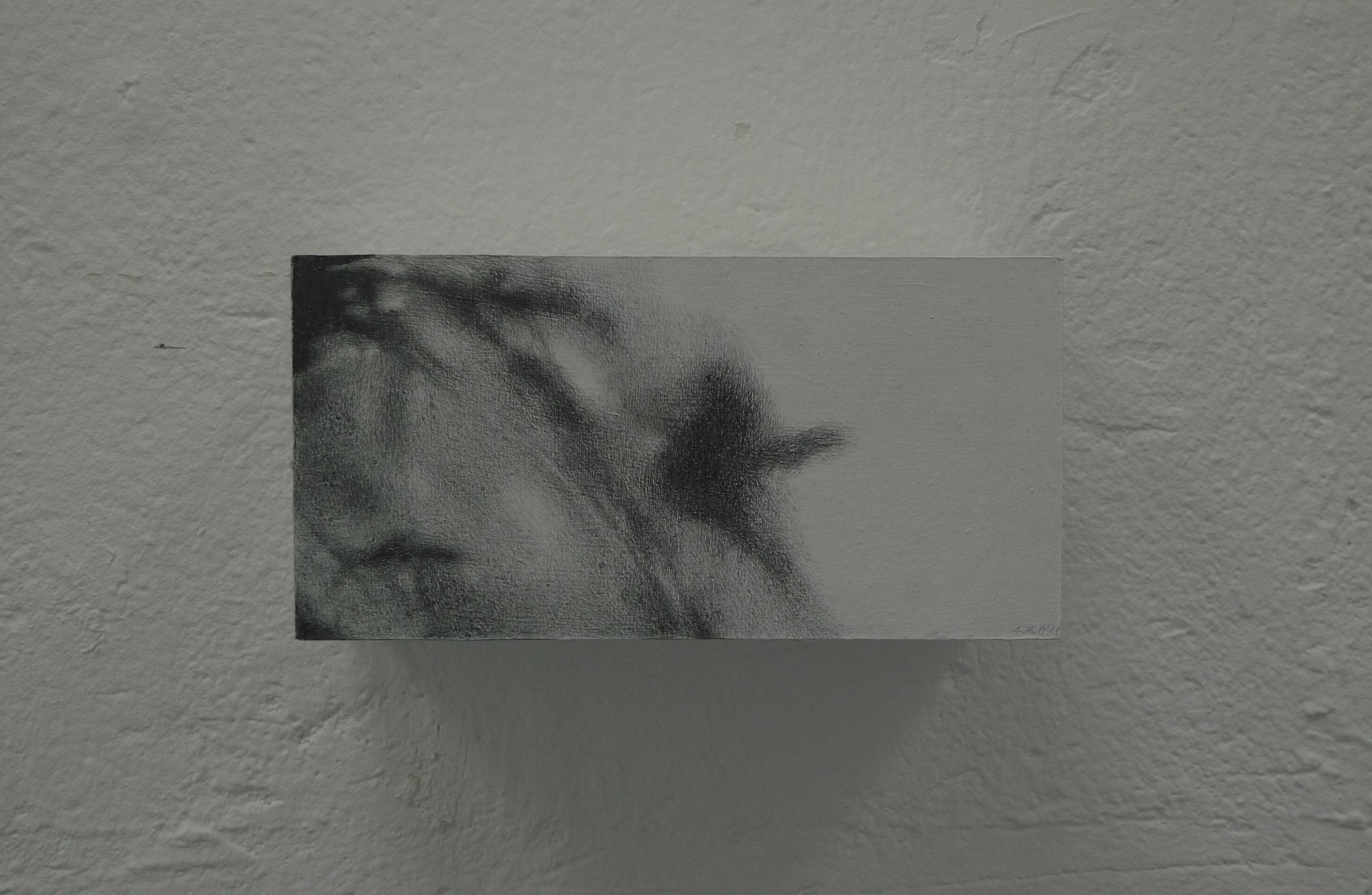 o.T., 2015, Zeichnung auf Filzpappe, 22 x 11 x 11cm