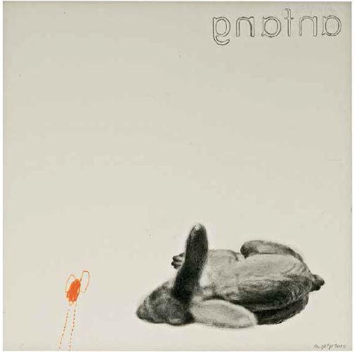 """""""anfang"""", 2010, Zeichnung auf Papier, 24 x 24 cm"""