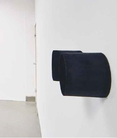 """""""Schwarz reisen"""", 2006, Rauminstallation"""